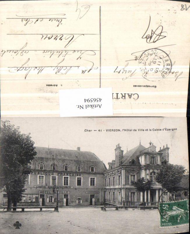 456594,Centre Cher Vierzon Hotel de Ville et la Caisse Epargne Rathaus