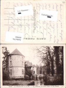459402,Ile-de-France Seine-et-Marne La Houssaye Le Chateau les trois Tours et les Fosses Schloss
