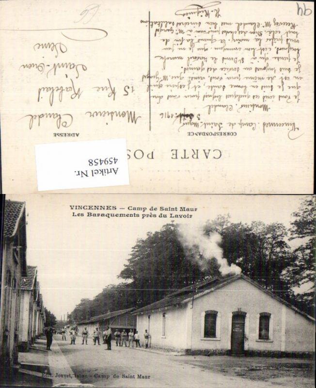 459458,Ile-de-France Val-de-Marne Vincennes Camp de Saint Maur Les Baraquements pres du Lavoir