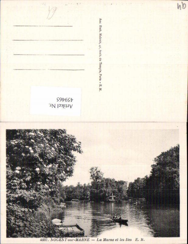 459465,Ile-de-France Val-de-Marne Nogent-sur-Marne La Marne et les Iles Ruderboot Boot