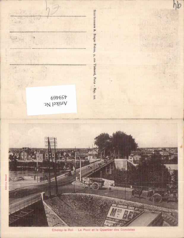459469,Ile-de-France Val-de-Marne Choisy-le-Roi Le Pont et le Quartier des Gondoles Brücke