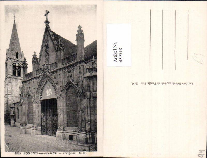 459518,Ile-de-France Val-de-Marne Nogent-sur-Marne L Eglise Kirche