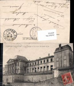 459755,Lothringen Meuse Commercy Illustre Le Chateau vu de la ligne du Chemin de fer Schloss