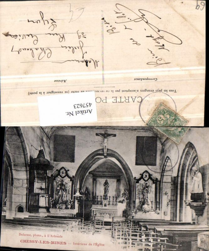 457623.Rhone-Alpes Rhone Chessy-les-Mines Interieur Eglise Kirche