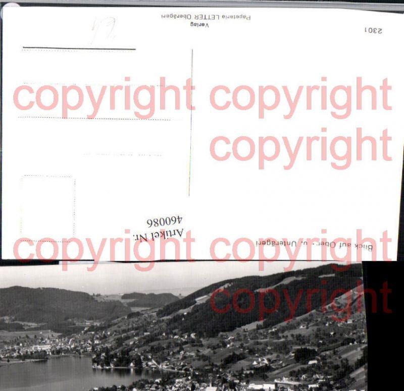 460086,Blick auf Ober- u. Unterägeri Totale See Kt Zug