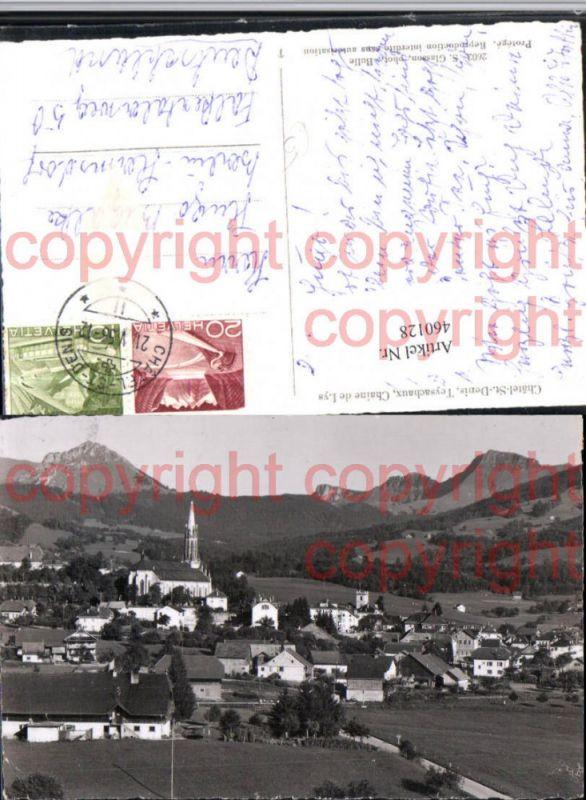 460128,Chatel-St.-Denis Teysachaux Totale Bergkulisse Kt Freiburg
