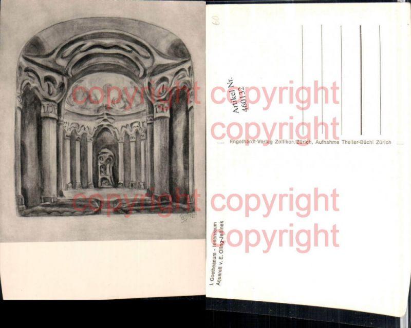 460132,Künstler AK E. Oling-Jellinek Dornach Goetheanum Innenansicht Kt Solothurn