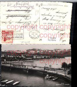 460199,Zürich Quaibrücke Brücke u. Utoquai Bergkulisse