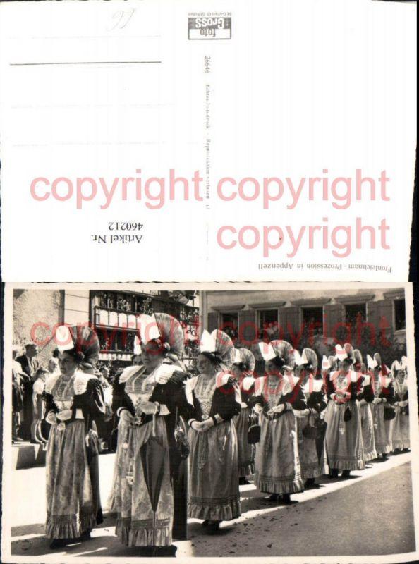 460212,Appenzell Fronleichnam Prozession Trachten Tracht
