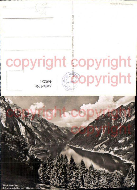 460251,Blick von d. Schwammhöhe auf Klöntalersee Bergkulisse Kt Glarus