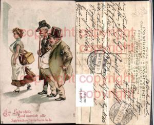 460646,Präge Künstler Litho Frau Männer Spruch Humor