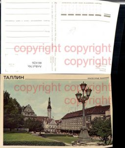 461426,Estonia Tallinn Harju Street Laterne Rathausturm