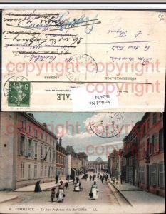 462474,Lothringen Meuse Commercy Sous-Prefecture et Rue Carnot Straßenansicht
