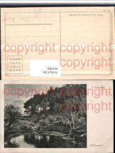 463388,Künstler AK Hugo Darnaut November Landschaft Fluss Wald