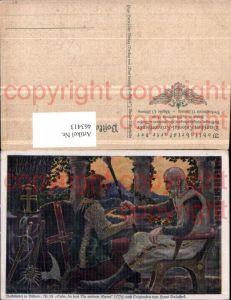 463413,Künstler AK Hans Baluschek Volkslied Vater Sohn Speer pub Hugo Bermühler