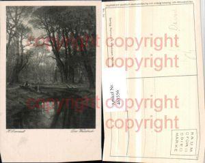463556,Künstler AK Hugo Darnaut Der Waldbach Wald