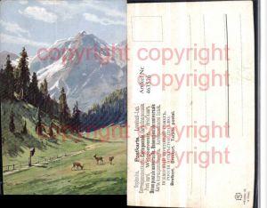 463576,Künstler AK Splitgerber Landschaft Bergkulisse