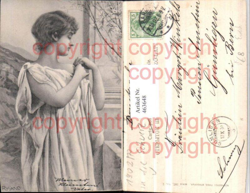 463648,Jugendstil Künstler AK Ryland Frau Tuch Erotik pub Theo Stroefer 207/7