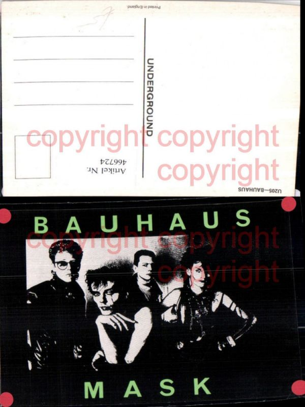 466724,Musiker Band Bauhaus