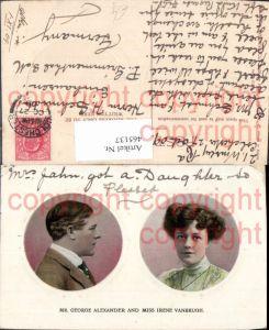465137,Schauspieler Mr. George Alexander and Miss Irene Vanbrugh Portrait