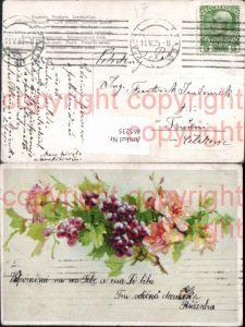 465235,Blumen Weintrauben m. Rosen
