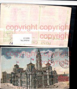 468115,Pennsylvania Philadelphia City Hall Rathaus Gebäude