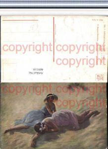 469119,Künstler AK P. Carrier-Belleuse Siesta Frauen Kleider Hut
