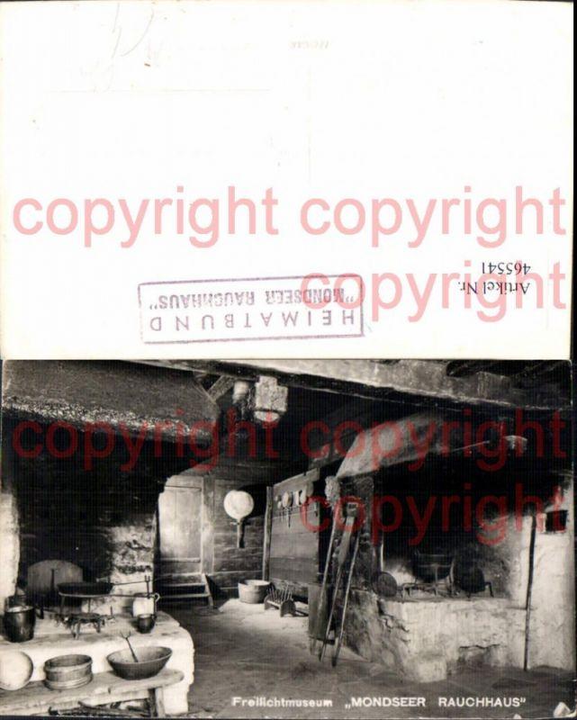 465541,Foto Ak Freilichtmuseum Mondseer Rauchhaus Ofen Heizung