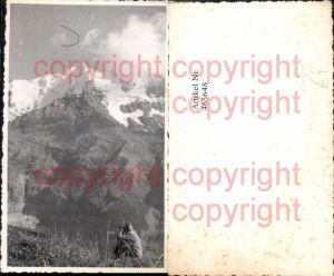 465648,Foto Ak Mann Fernglas Bergkulisse