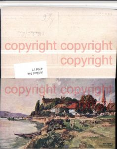 470417,Künstler AK Fritz Lach Ottensheim an d. Donau pub B.K.W.I. 403/2