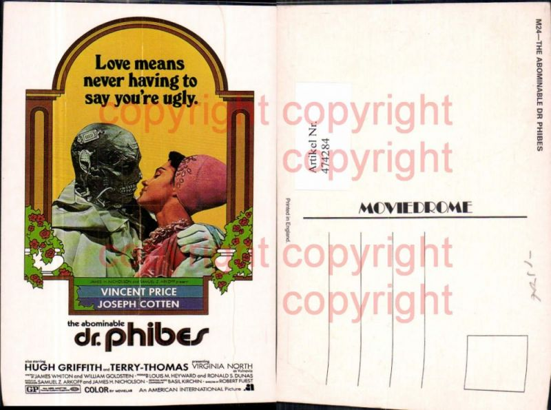 474284,Film Reklame Dr. Phibes Vincent Price Joseph Cotton Hugh Griffith Terry-Thomas