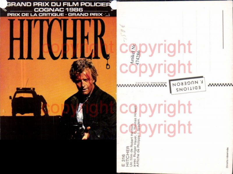 474286,Film Reklame Hitcher Rutger Hauer C. Thomas Howell
