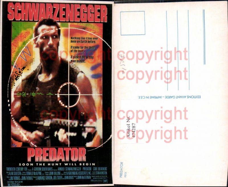 474287,Film Reklame Predator Arnold Schwarzenegger
