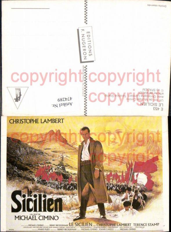 474289,Film Reklame Le Sicilien Michael Cimino Christophe Lambert Terence Stamp