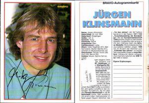 478089,Sportler Jürgen Klinsmann Bravo-Autogrammkarte Fußball