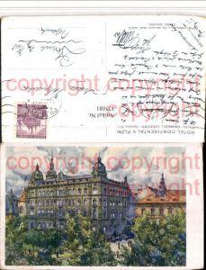 475081,Künstler AK Emanuel Ledecky Plzni Pilsen Hotel Continental