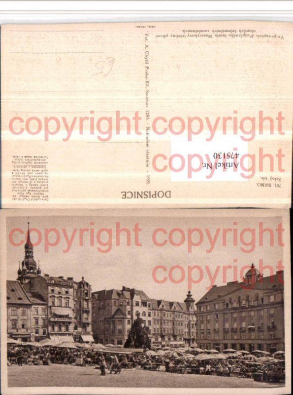 475130,Brno Brünn Zelny trh Marktplatz Platz