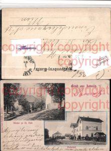 475220,Gruß aus Jamnitz Jemnice Bahnhof Kloster St Veit Mehrbildkarte