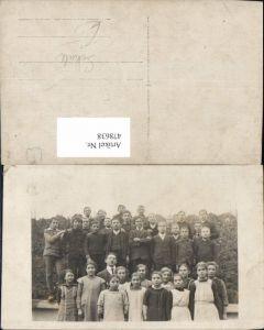 478638,Foto Ak Gruppenbild Kinder Schule Lehrer Schulklasse