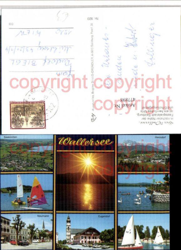 477898,Wallersee Seekirchen Henndorf Neumarkt Segler Mehrbildkarte