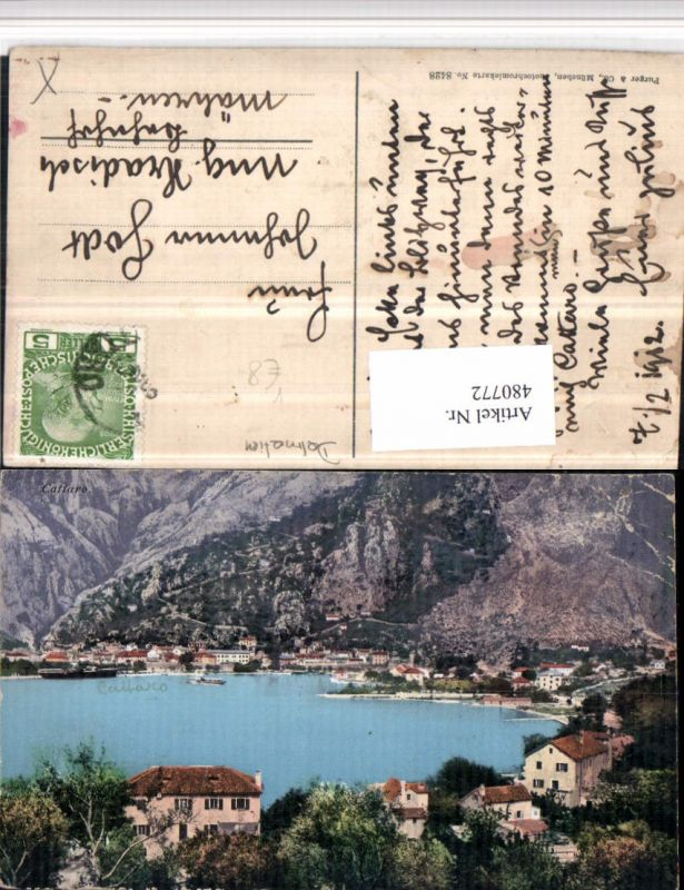 480772,Montenegro Cattaro Kotor Teilansicht pub Purger & Co 8428