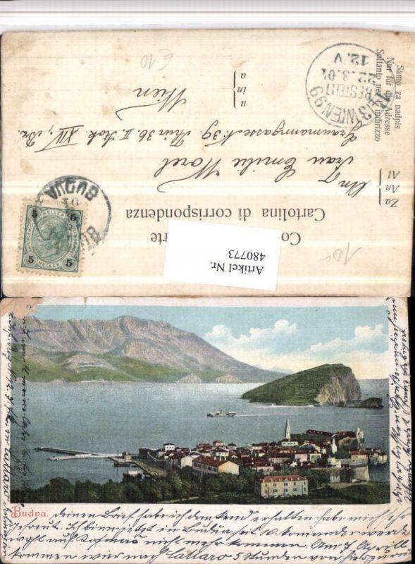 480773,Montenegro Budva Totale Insel Bergkulisse
