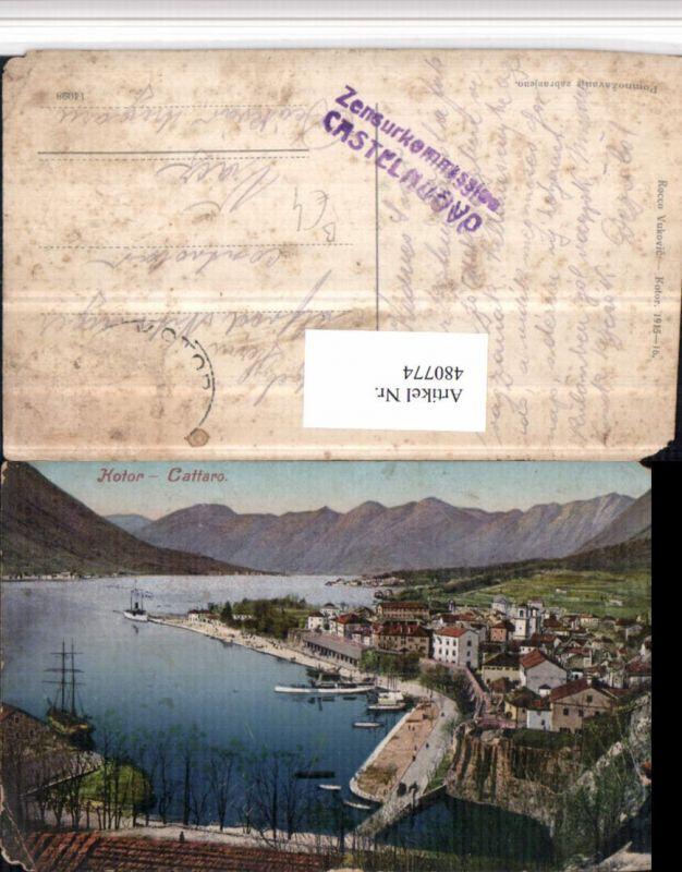 480774,Montenegro Kotor Cattaro Totale Bergkulisse