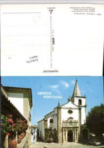 480811,Portugal Obidos Igreja matritz de Santa Maria Kirche