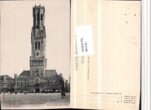 481181,Belgium Bruges Brügge Le Beffroi et Halles Glockenturm Turm
