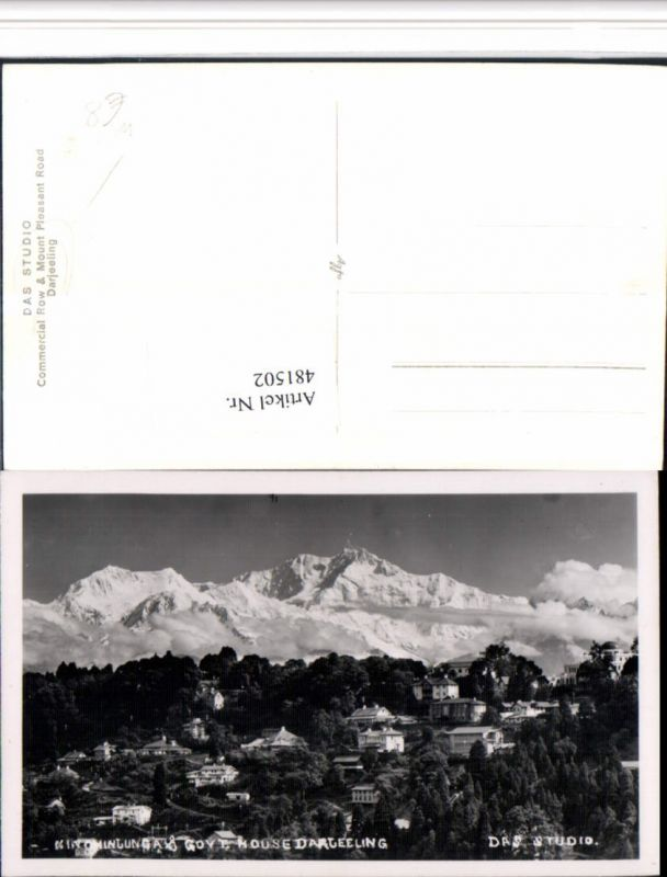 481502,India Darjeeling Kanchenjunga Bergkulisse