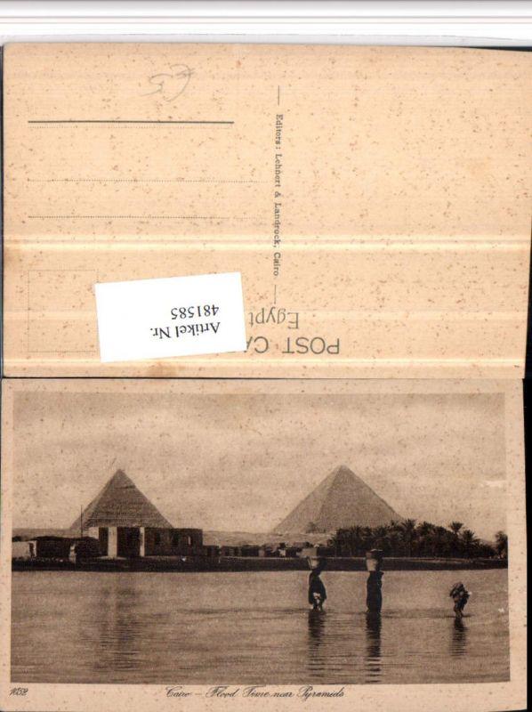 481585,Egypt Cairo Kairo Flood Time near Pyramids Pyramiden