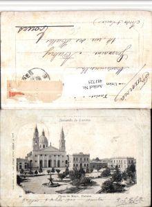 481725,Argentina Parana Plaza de Mayo Platz Kirche Brunnen