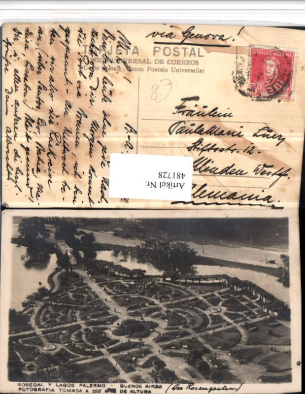 481728,Argentina Buenos Aires Rosedal y Lagos Palermo Park
