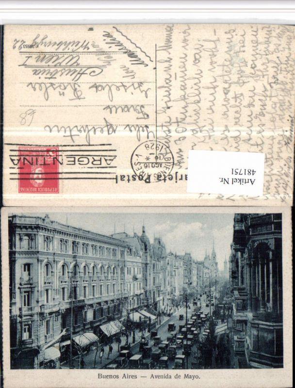 481751,Argentina Buenos Aires Avenida de Mayo Straßenansicht